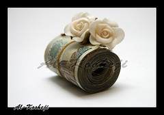 Modest Gift 4 u  =p (Al-Kooheji) Tags: white money flower canon photo small pic give gift 20 economic wad package crisis dinar modest bahraini decided       heared        alkooheji