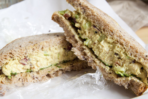 Donna Bell's chicken curry salad sandwich