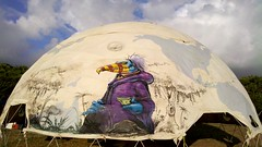 katch 1 large dome for tribal gathering (NASA CREW) Tags: bird art dark hawaii 1 paint natural crystal grafffiti north tribal spray shore dome gathering aerosol 808 koncept katch