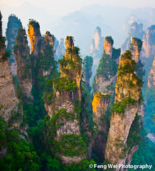 The Gathering of Heavenly Soldiers (Feng Wei Photography) Tags: china travel summer wallpaper mountain color nature beautiful beauty landscape nationalpark amazing scenery colorful asia avatar scenic peak stunning 中国 旅游 majestic hunan 张家界 zhangjiajie 地理 亚洲 100commentgroup zhangjiajienationalforestpark planetpandora 神兵聚会 老屋场