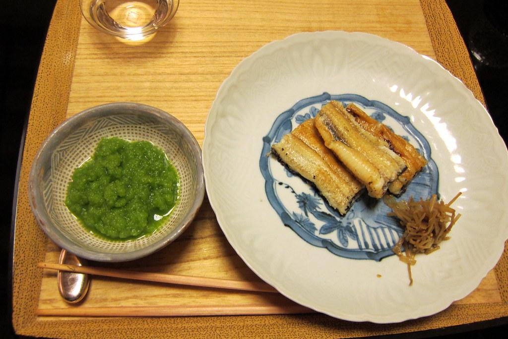 Kyoto - Kikunoi Honten: Salt-grilled Eel  and Water Grass Vinegar