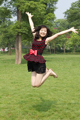 happy girl jump up (wu.peng) Tags: park people tree cute green beautiful beauty smiling fashion closeup female laughing jumping women university friendship contemporary happiness clean heat innocence teenager casual cheerful youngadult blackhair hygiene perfection oneperson freshness elegance caucasian purity youthculture humanhair vitality humanface humanskin healthylifestyle fineartportrait teenagersonly asianethnicity humanmouth japaneseethnicity humanteeth