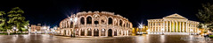 Verona night time arena pano (Chris B70D) Tags: city trip travel chris venice sky people urban italy panorama sun distortion colour history texture glass weather stone architecture clouds photoshop canon buildings tile landscape photography construction scenery long raw arch view place dynamic image weekend north dramatic atmosphere 360 scene location historic verona seeing stitching classical photomerge editing sight febuary degree vicenza padova neutral 70d berridge