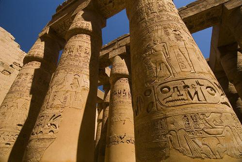 Columnas templo de Karnak