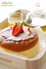 Japanese cheesecake (*steveH) Tags: food cake dessert strawberry tea sweet cheesecake japanesefood greentea teatime internationalfood steveh japanesecheesecake