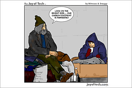 hobo carbon footprint cartoon