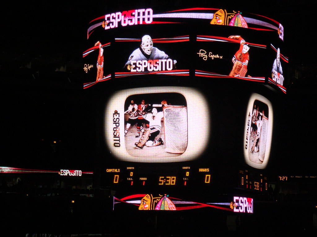 Tony Esposito Night video board footage