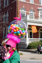 Bubblegum Dispenser Hat (taberandrew) Tags: pink hat easter virginia fan spring candy richmond parade va omg headgear monumentavenue richmondcity