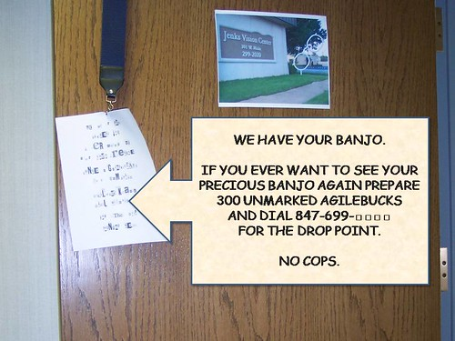 We HaVE YouR bANjo...
