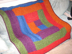 Ravelry: Log Cabin Crocheted Baby Blanket pattern by ...