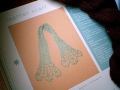 Feather Scarf (lady i swear by all flowers) Tags: scarf knitting wip twinkle