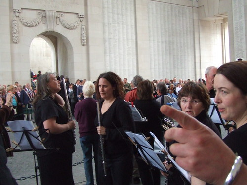 playing at Menin Gate