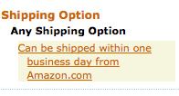 Amazon Shipping Filter
