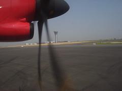 Landing @ Rajiv Gandhi International Airport Hyderabad (vissulife) Tags: india airport international gandhi hyderabad andhra pradesh rajiv gmr shamshabad