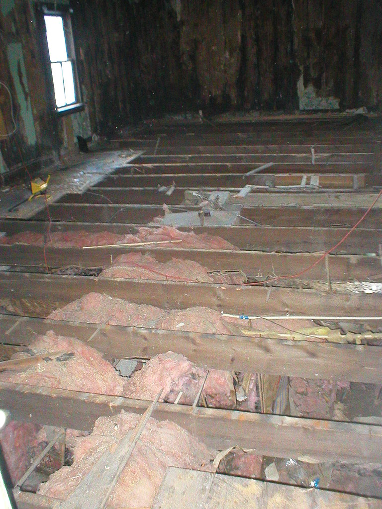 Exposed floor joists