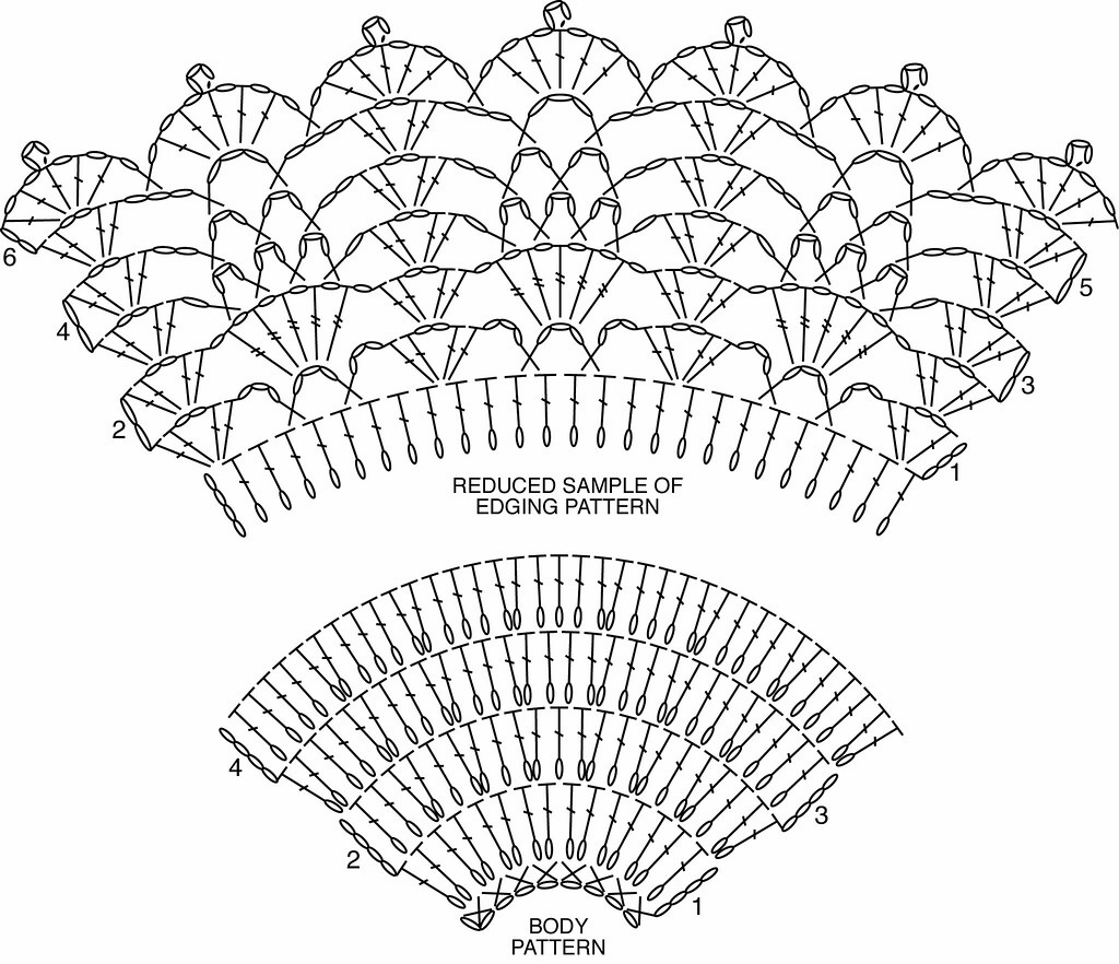 Free Crochet Shawl Diagram : >All Shawl Stitch Diagrams Doris Chan Crochet