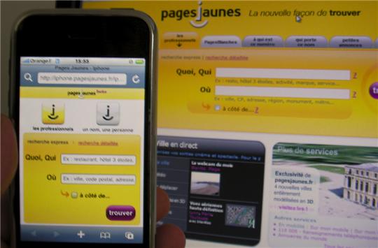 pagesjaunes web iphone