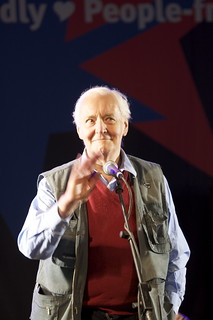 From http://www.flickr.com/photos/7489040@N03/2621655572/: Tony Benn - .Capitalism and communism have one thing in common: they both absolutely detest democracy..