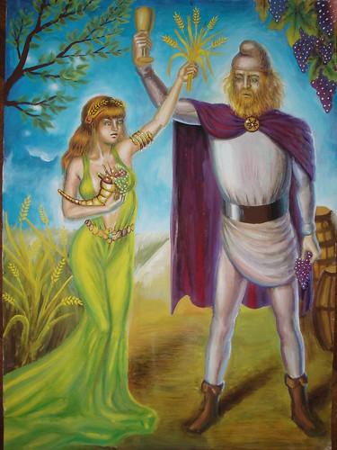 Demetra si Bachus