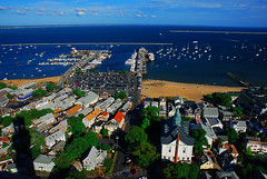 View from the Provincetown Monument (Howland Studio) Tags: summer beach monument ma boats coast seaside view provincetown capecod massachusetts newengland summertime ptown viewfromabove provincetownmonument