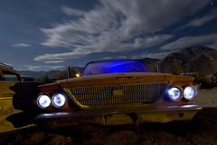 Elwood Engle (Lost America) Tags: lightpainting abandoned night flash fullmoon newport flashlight junkyard chrysler strobe 1963 highway395 nocturnes pearsonville