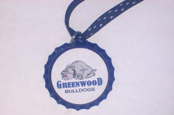 SCHOOL MASCOT BOTTLE CAP NECKLACE