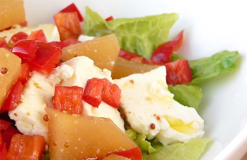 Senfbirnen in Salat