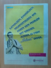 Nette Werbung zum Revier-Derby Borussia Dortmund vs. FC Schalke 04