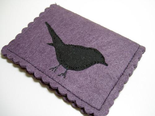 Purple birdie needlebook.