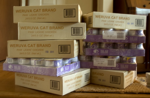 109 Pounds of Cat Food