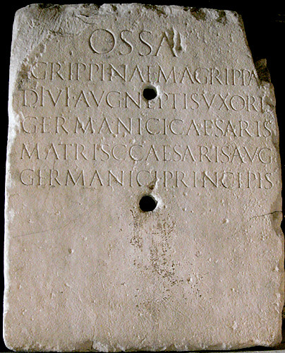 Agrippina <a href='view.asp?key=epigraphy'>Epigraphy</a> by you.