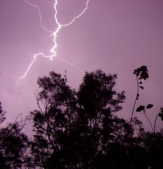 First shot of a lightning bolt! (Photos from Lozza) Tags: blue trees sky storm night long exposure slow shot time first luck shutter bolt lightning