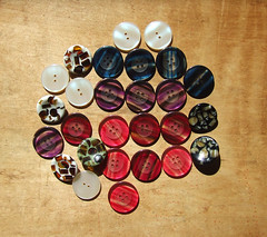 buttons (staceyjoy) Tags: brooklyn crownheights buttons redlipstick moodfabrics