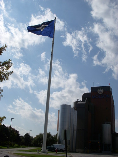 Flag pole at the Toronto Brewery