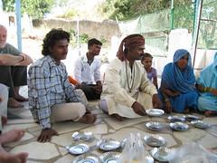 Qawwali singers at lunch - Udaipur