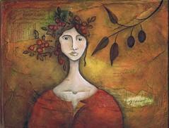 Grow (pamcarriker) Tags: portrait woman mixedmedia etsy zne metsyteam pamcarriker thebagladysart