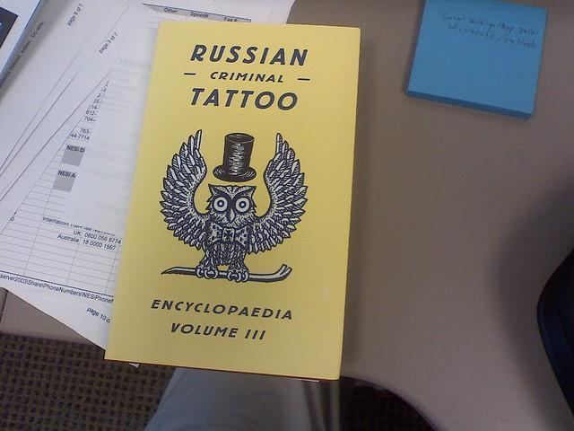 Russian Criminal Tattoo Encyclopaedia, Volume 3. Thanks, Atomic Books!