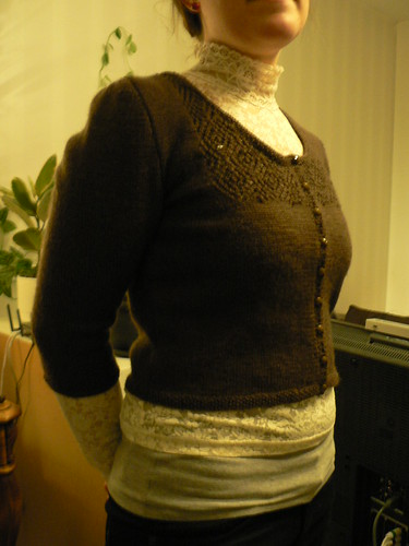 cardigan with light