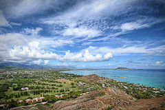 Windward Side (harogi) Tags: usa beach clouds golf hawaii lucy skies katherine harold hike kaneohe explore layers hi windward hdr pillbox kailua lanikai sigma1020 3exp hawaiiflickrmeetup visiongroup harogi midpaccountryclub