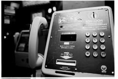 FM2 + Ai Nikkor 24mm Acros100 10m 隣の公衆電話 (by midorisyu)