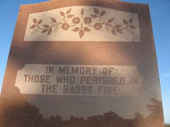 Memorial to Babbs Switch Fire Victims - Hobart, OK