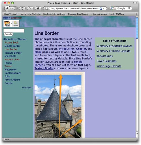 iPhoto Book Themes site