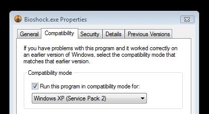 Bioshock Compatibility Mode