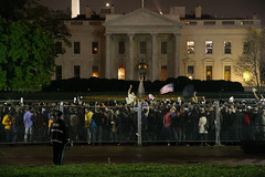 Claiming the White House (Alex Barth) Tags: street night washingtondc whitehouse used dcist elections obama mccain generalelection inuse election08