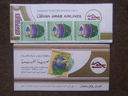 Libyan Arab Airlines Tickets 1980s
