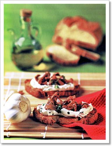 foto del crostone ai finferli