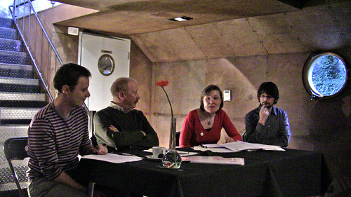 discussion panel, with Rudy Raymaekers second from the left, pic by lvb.net
