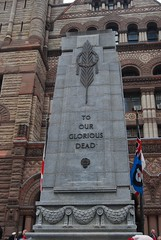 Old City Hall Cenotaph (Patanne) Tags: toronto oldcityhall remembranceday2008