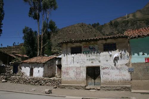 Facades in Cotaruse, Peru.