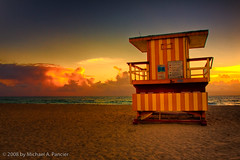 Another Lifeguard Hut (Michael Pancier Photography) Tags: beach sunrise southbeach hdr fineartphotography sobe lifeguardstand naturephotography seor naturephotographer floridaphotographer michaelpancier michaelpancierphotography colorphotoaward tributetohdrqueenfragglered mikejonesdidnotsleephere wwwmichaelpancierphotographycom seorcohiba